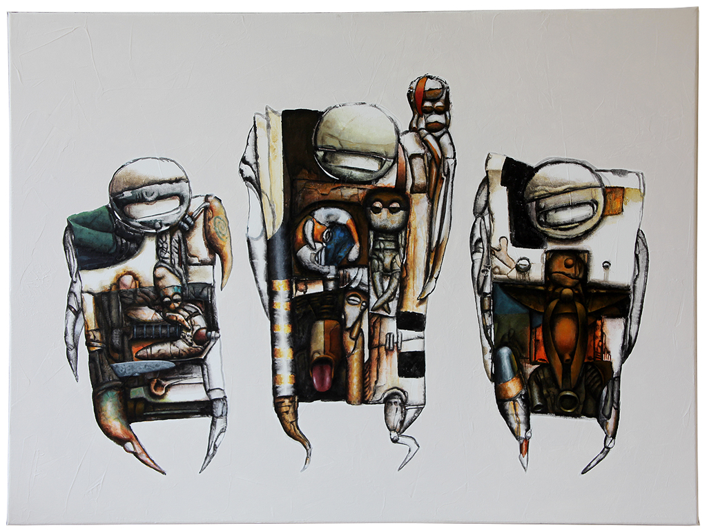 Three of a Kind, 80x60cm, 2013-12-21, particulier bezit