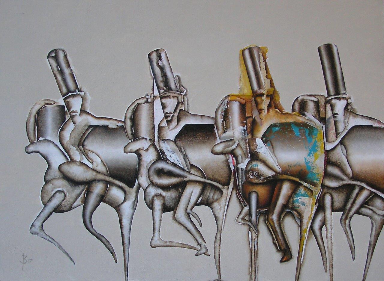 Cavalry, 80 x 60 cm, 2017-11-18