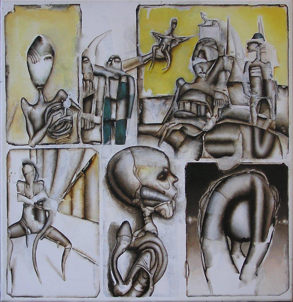 6 steps, 60 x 60 cm, acryl, 27-2-2018, Ruud Bijman